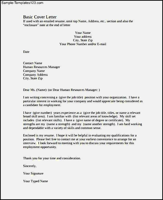 basic resume resume template   Sample resume cover letter ...