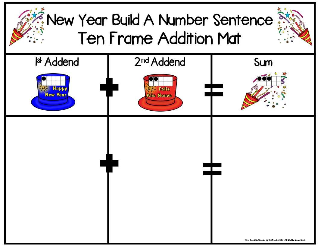 New Year 2 Addend Addition Amp Subtraction With Ten Frames