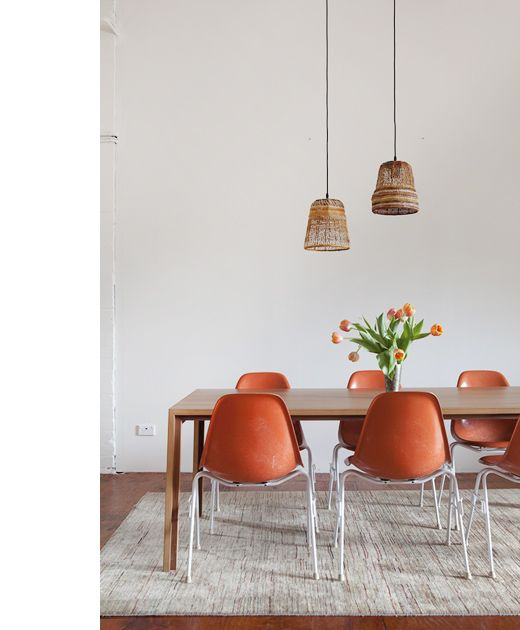 The Sydney Apartment Of Designer Emmanuelle Flahault And Johannes Weissenbaeck Original Eames Dining Chairs Bought