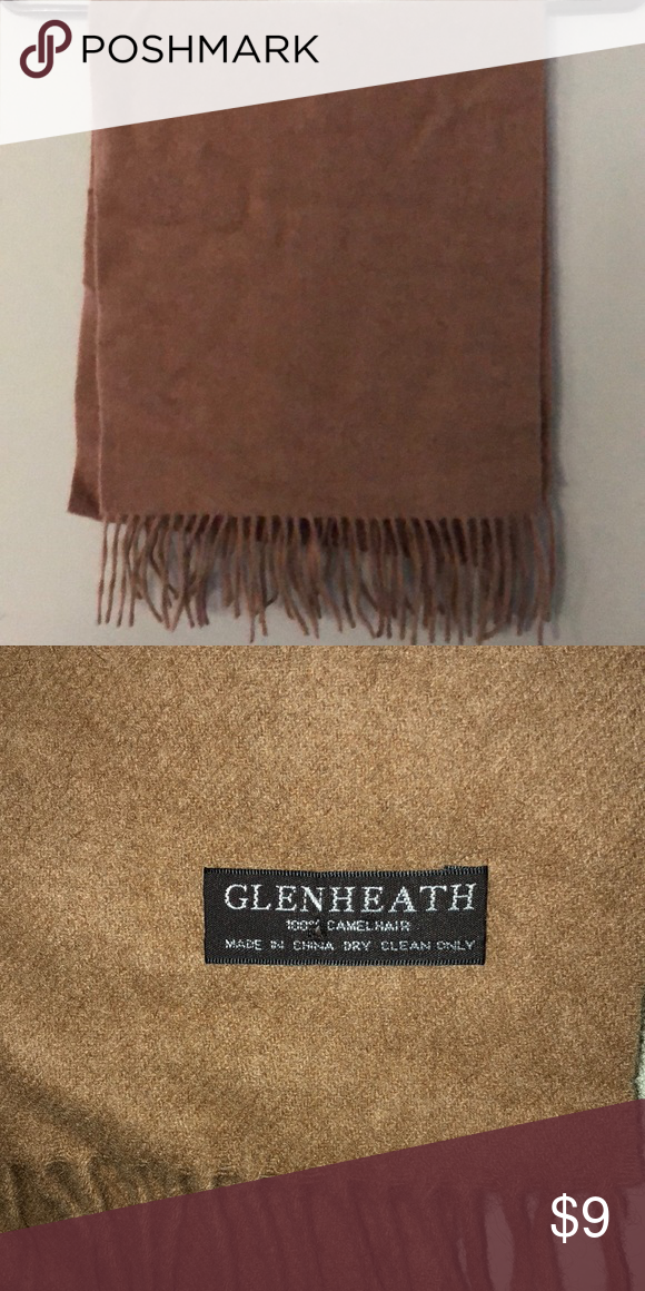 a4fd9fa10 100% Camel hair scarf GlenHeath 100% Camel Hair scarf brown - dry clean  only Accessories Scarves & Wraps