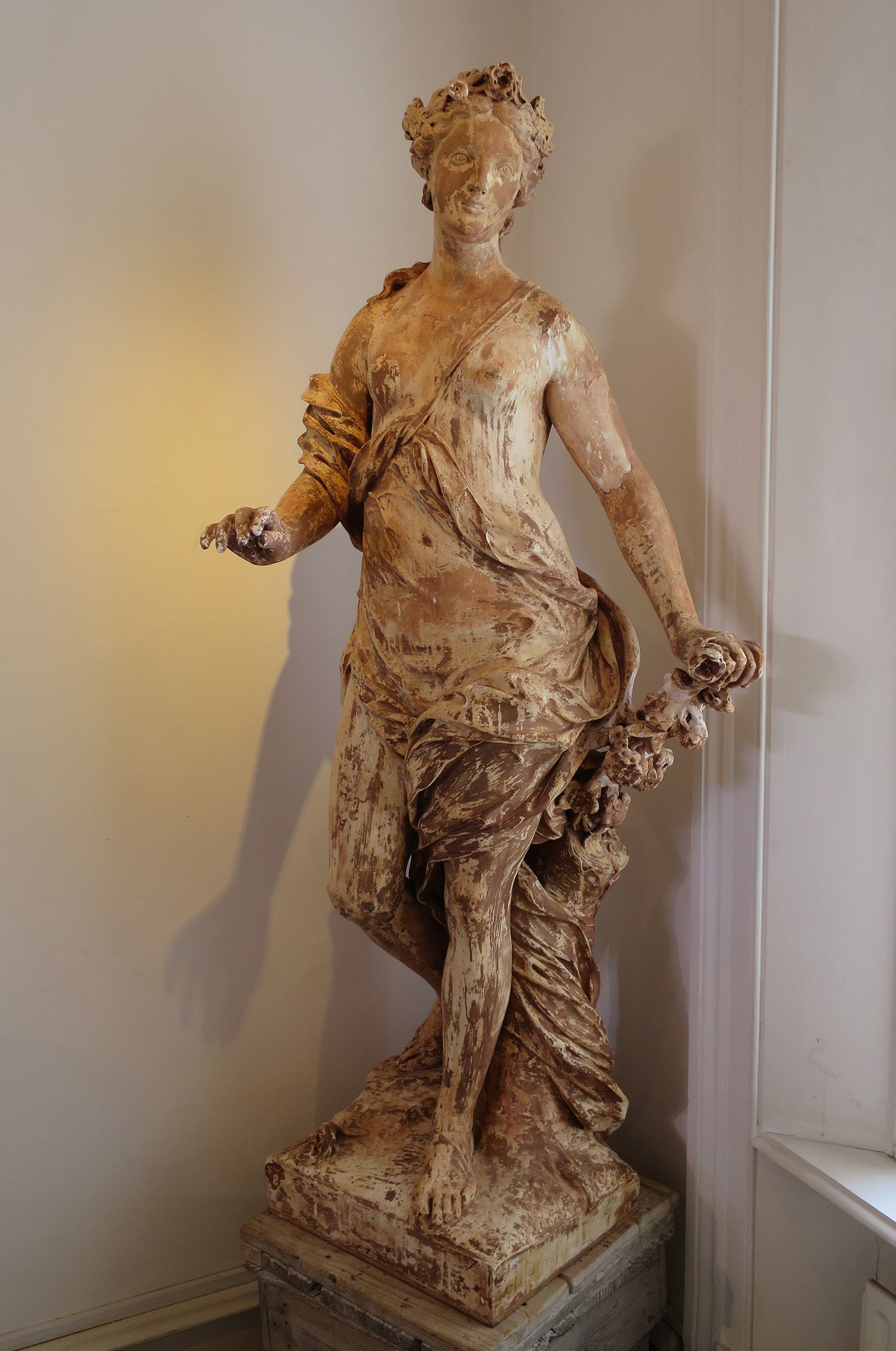 19th c French Plaster Statue of Primavera by Charles Fremont www.appleyhoare.com