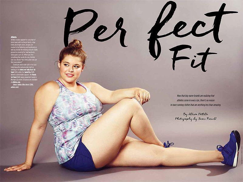 Uma revista de corrida e uma modelo plus size na capa   Pãozim de Queijo