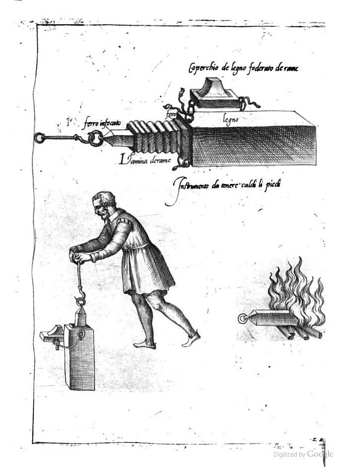 16th C Kitchen equipment: Italy; from Opera di M