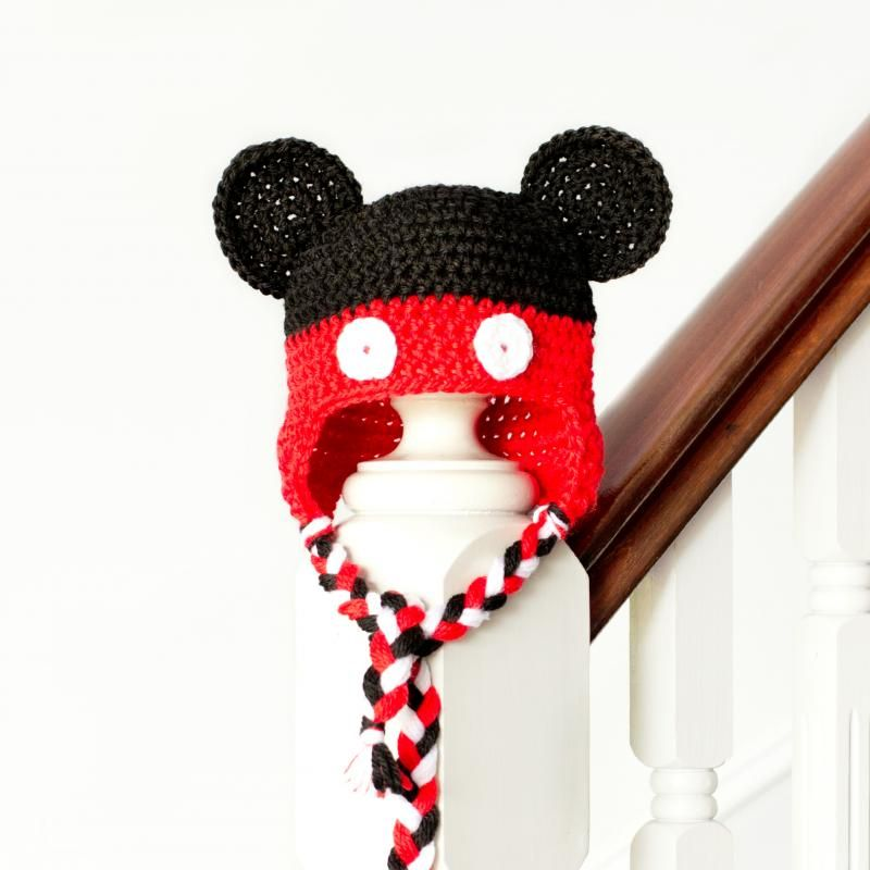 Mickey Mouse Inspired Baby Hat Free Crochet Pattern Crochet Hat