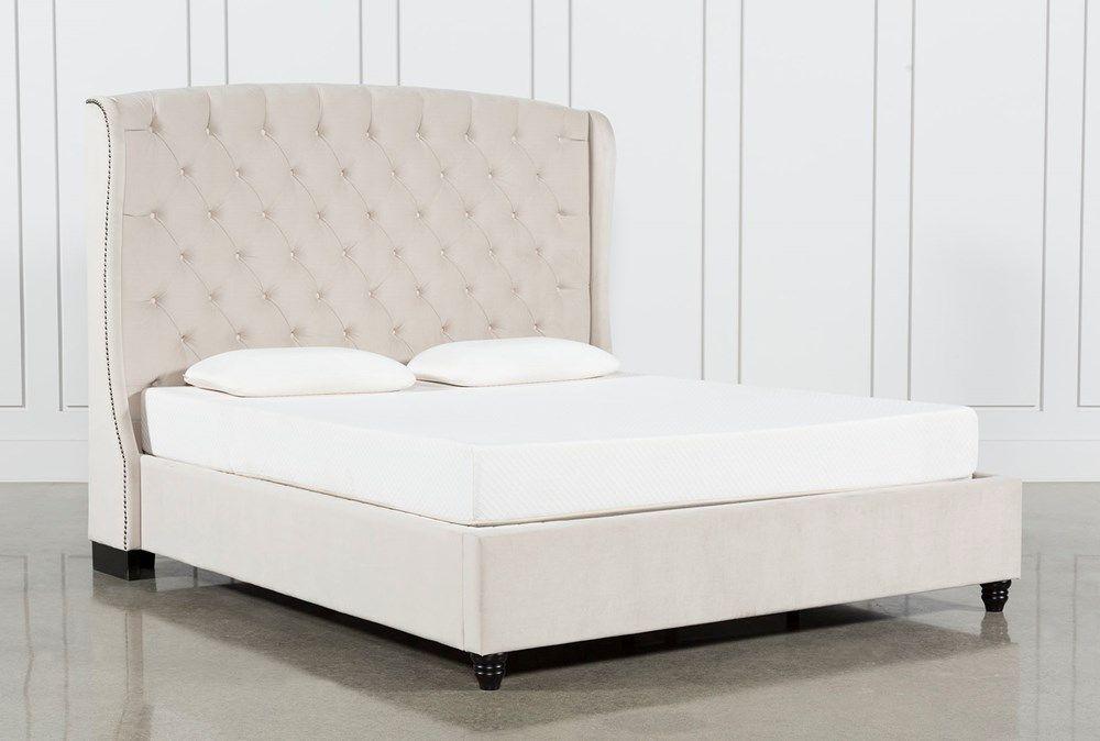 Mariah Queen Upholstered Panel Bed In 2020 Panel Bed Upholstered Platform Bed Coastal Bedrooms