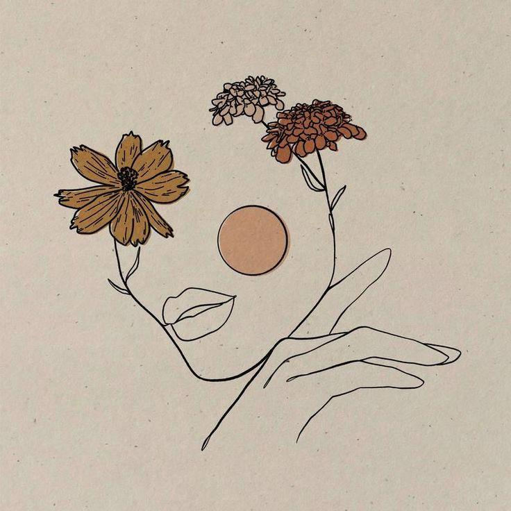 Simple Best Aesthetic Drawing Examples In 2020 Vintage Inspired Art Vintage Drawing Boho Painting