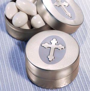 Cross Design Mint Tin - Silver image