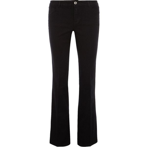 Black bootcut jeans ($27) ❤ liked on Polyvore