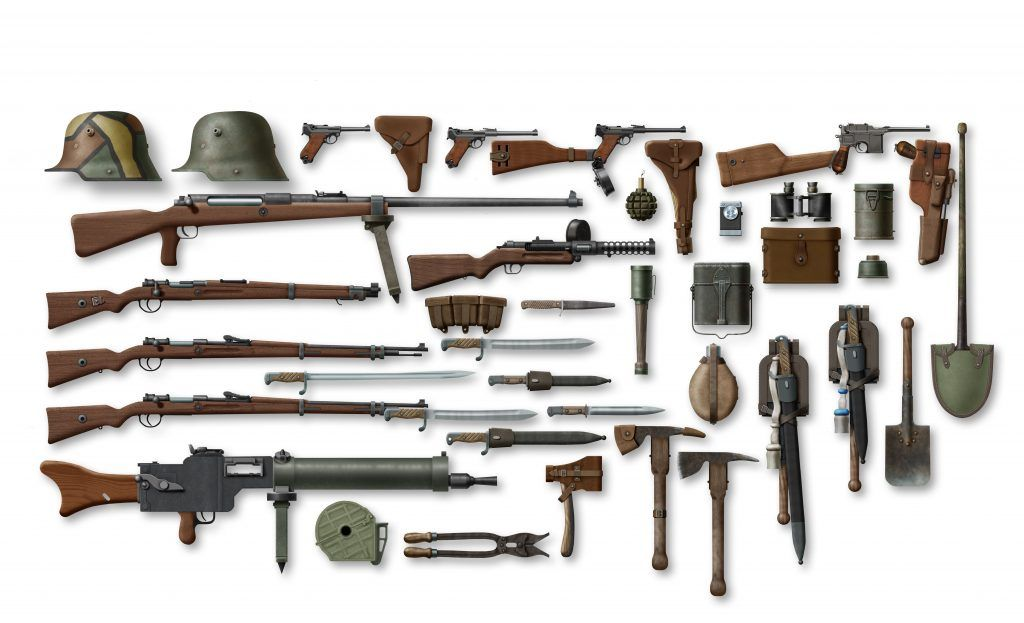 battlefield 1 weapons list of all guns found in bf1 battlefield