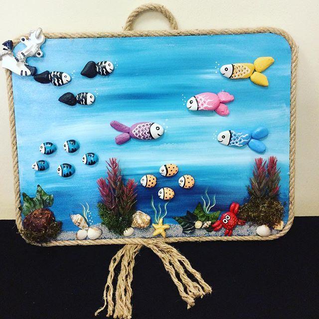 Kursiyerlerin Bitmis Isleri Elyapimi Handmade Elemegi Balik Fish Akvaryum