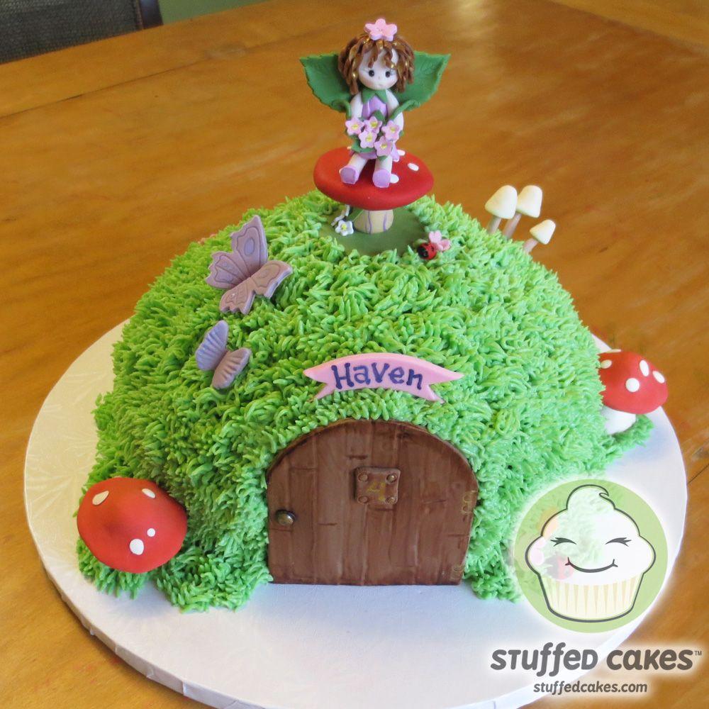 Mossy Fairy House Cake wwwStuffedCakescom Custom Cakes Seattle
