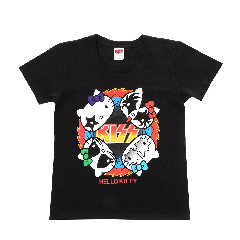 Kiss X Hello Kitty T Shirt Rockfire Femme Hello Kitty