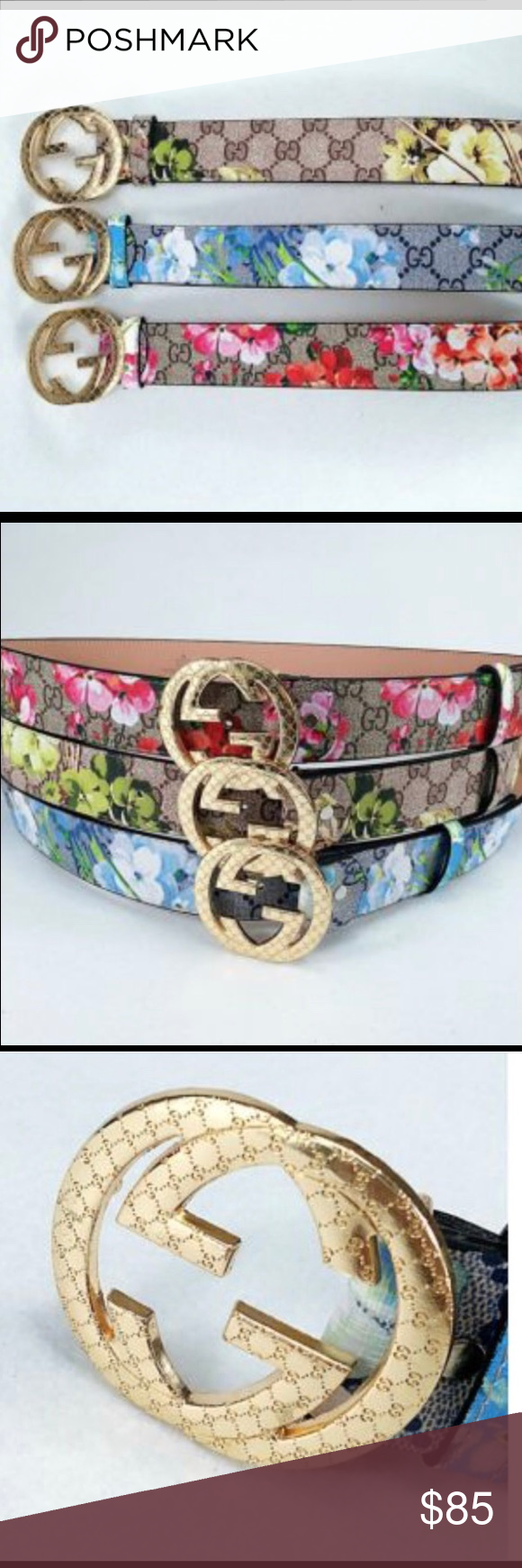ab08ba2eaa4 Gucci Belt Floral Gucci Belts. Sizes vary