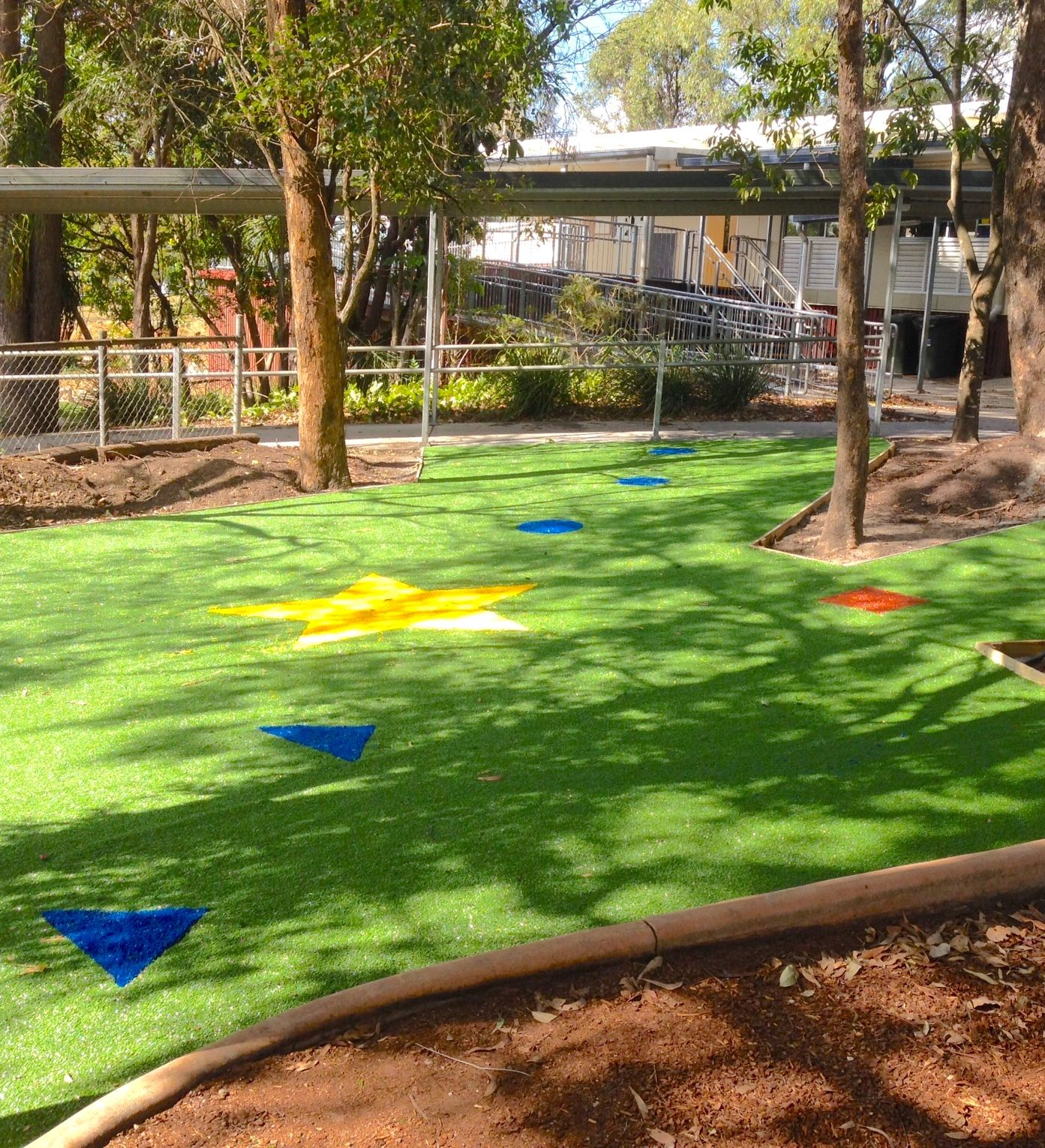 Artificial turf for school and public playgrounds. Turf