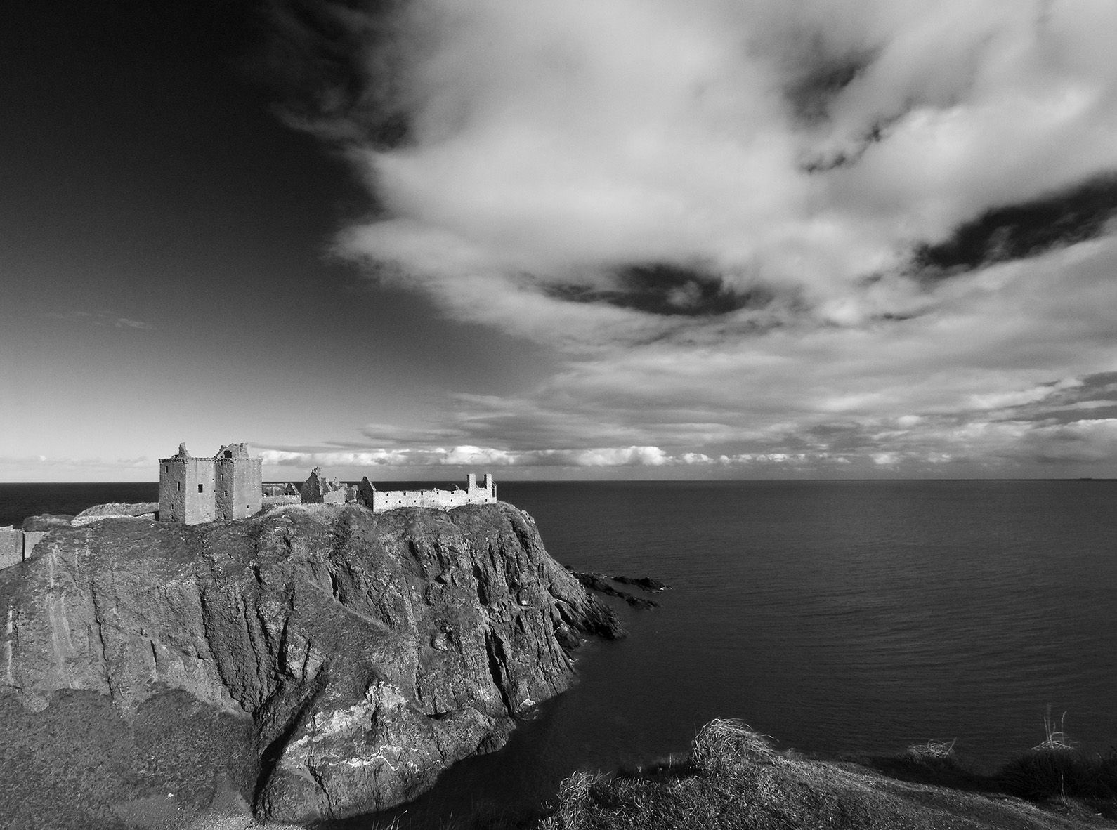 Dunnottar Castle in Scotland, UK