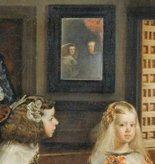 detail from Las Meninas, Diego Velázquez, 1656, oil on ...