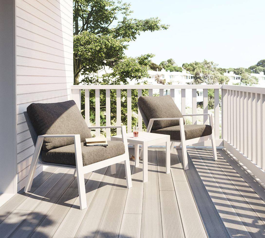 Kata outdoor patio set allows you to lounge outdoor without any hesitation its modern design