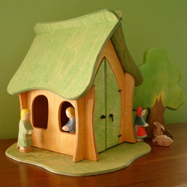 Details About Holzkram Wooden Dollhouse For Play Waldorf
