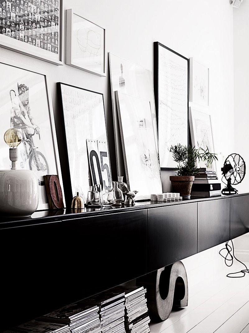 Ikea besta black decor wall composici n hogar - Composicion salon ikea ...