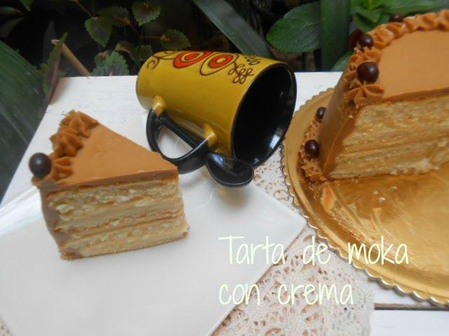 Tarta de moka con crema