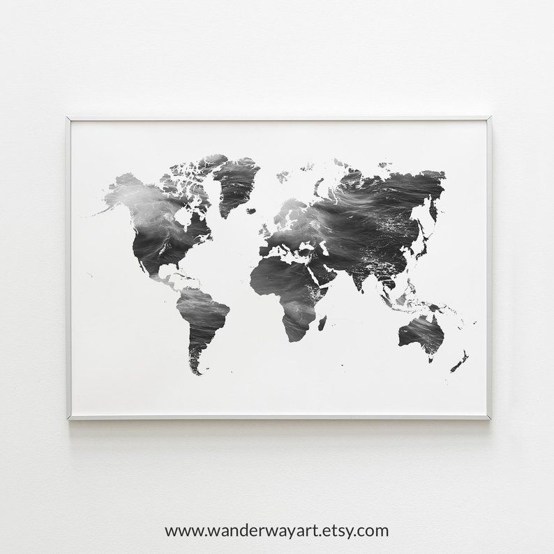 World Map Wall Art Travel