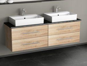 Badezimmer Schubladenschrank ~ Flex badmöbel cm mit auszügen hacienda braun badezimmer