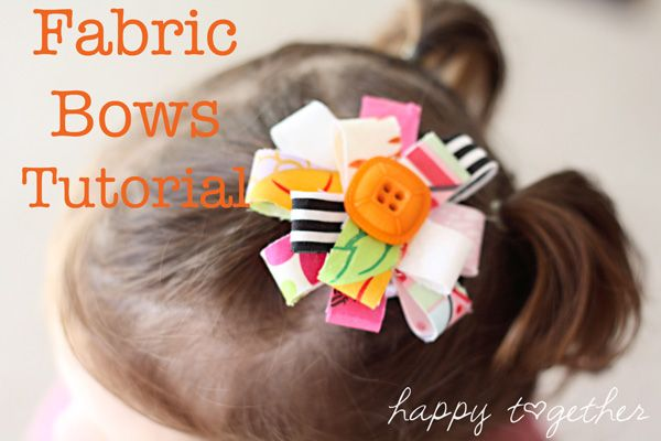 Fabric bows tutorial... whipup.net/...