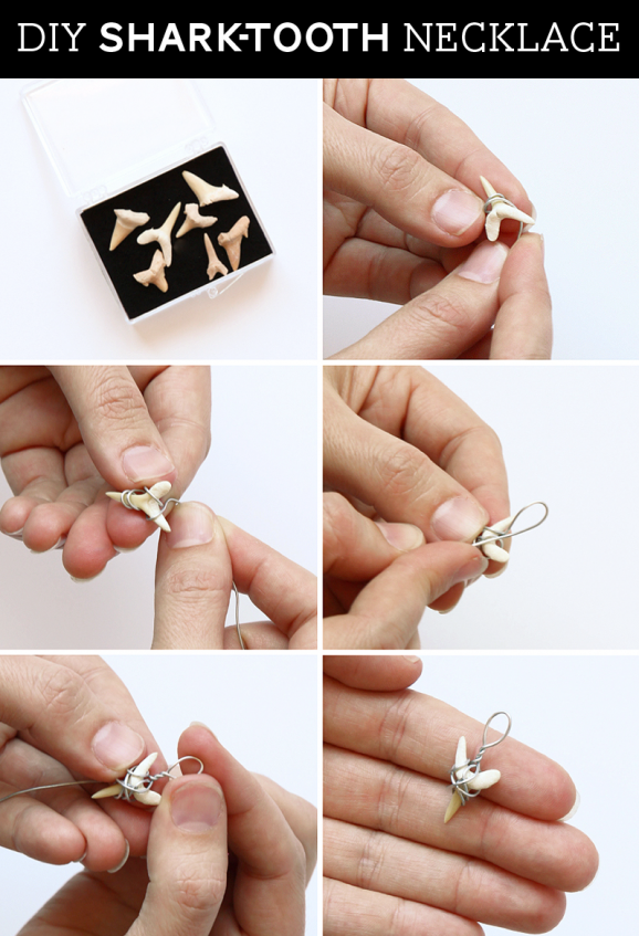 How To Wire Wrap A Shark Tooth Make Necklaces Inspired By Animaljam Via Pagingsupermom