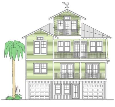 Schooner Bay Coastal House Plans from Coastal Home Plans