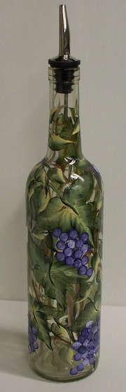 Olive Oil Decorative Bottles Turning A Wine Bottle Into An Oil Bottle  Remove Labels Empty