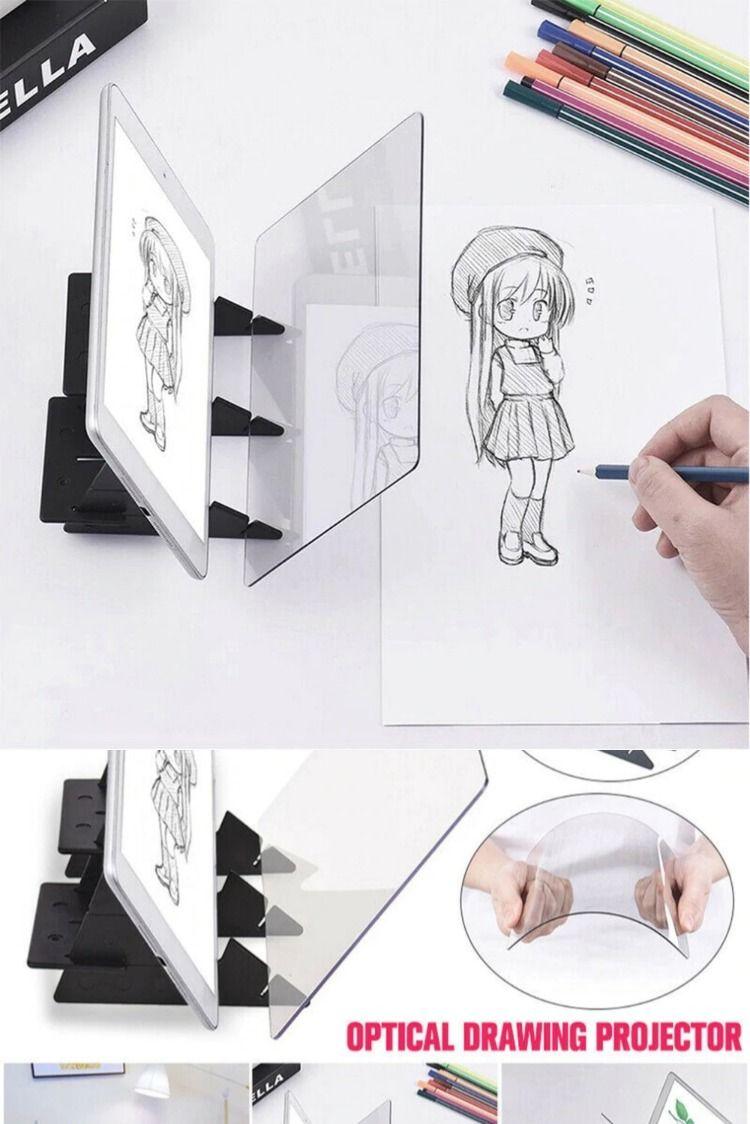 Optical Imaging Drawing Board Lens Mirror Painting Mirror Reflection Art Sets
