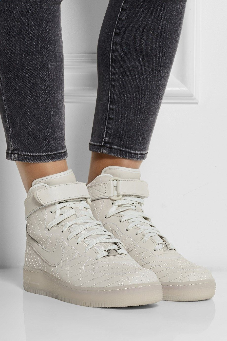 Nike Air Force 1 NYC High Top Sneakers aus Leder NET A PORTER