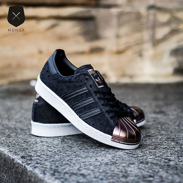 adidas Wmns Superstar 80s Metal Toe (Black) is now available