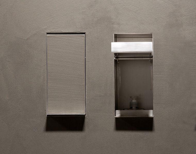 Accessori Bagno A Scomparsa.Bathroom Accessories Hidden In The Wall Sesamo By Antoniolupi Accessori Per Bagno Bagno Accessori Da Bagno