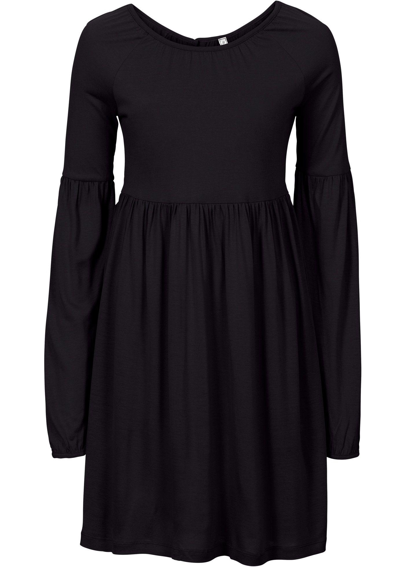 Commandez maintenant Robe noir - RAINBOW à partir de 11,99   sur bonprix.fr.  Robe tendance avec superbes fronces, petit bouton dans le haut du dos, long. 04920ef54532