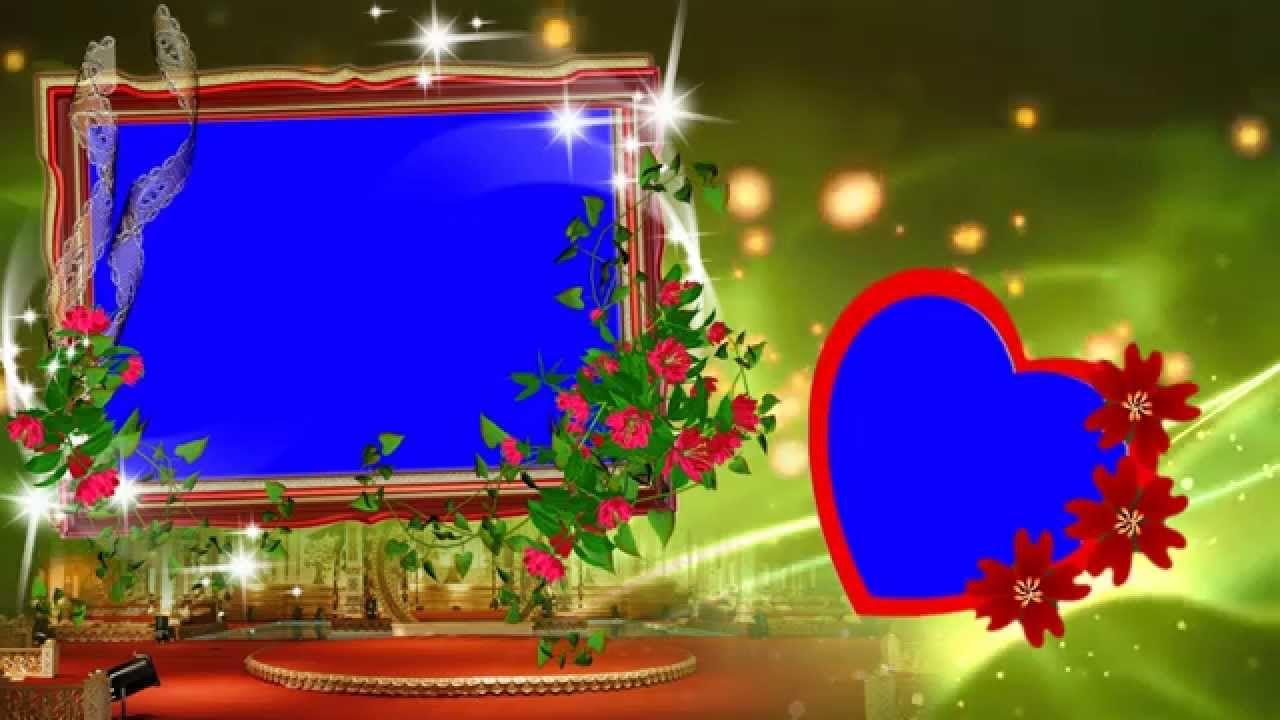 HD Beautiful Animated Wedding Frame Background Video - YouTube ...