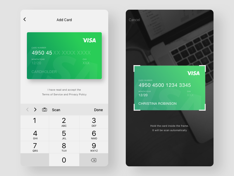 Tailslife addscan card app behance and ui ux tailslife addscan card reheart Choice Image