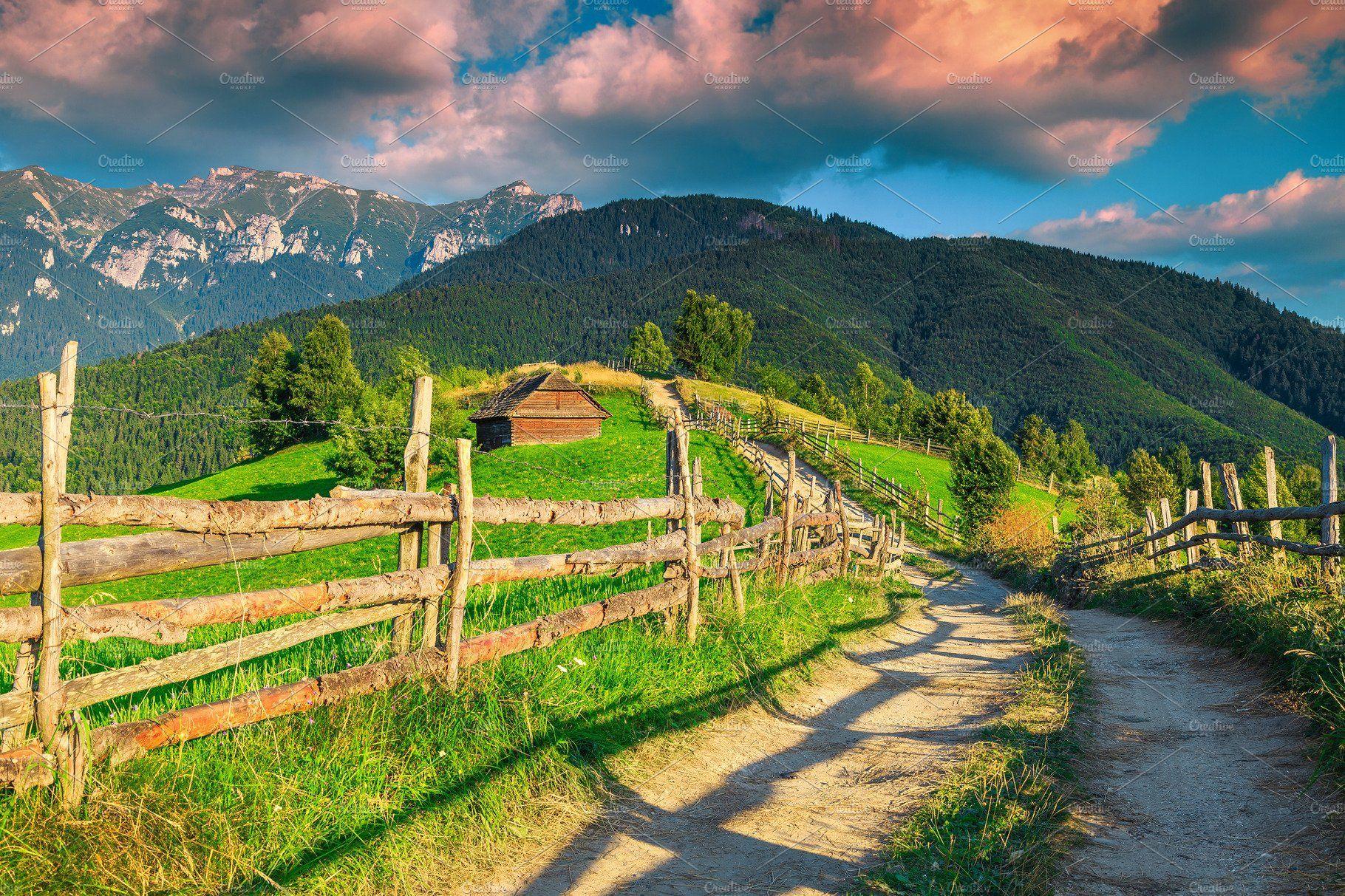 Amazing Rural Landscape At Sunset Evropa