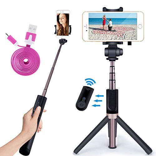 ebe4434c390682 Discounted Apexel 2-in-1 Extendable Bluetooth Selfie Stick Monopod Tripod  Stand with Wireless Remote Shutter for iPhone Xs/XS Max/XR/X/8/8 Plus/7/7  ...