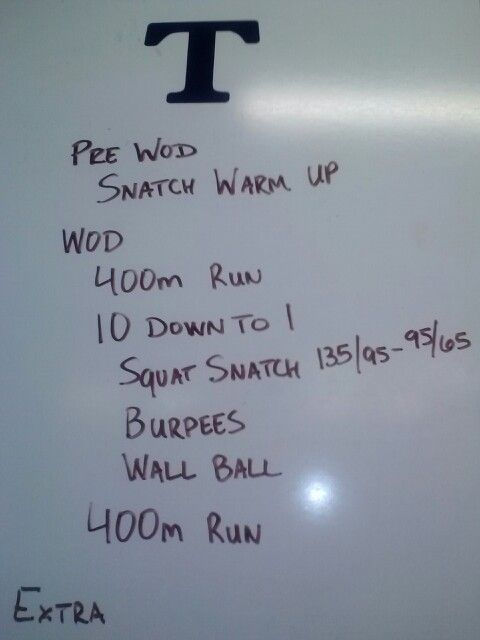 Crossfit Wod Ladder 10 To 1 Wod Crossfit Wod 10 Things