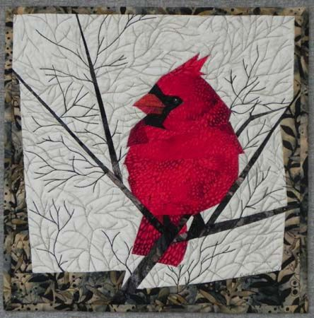 Ruth Powers Blog » Blog Archive » More Snow, SAQA Auction ... : cardinal quilt - Adamdwight.com