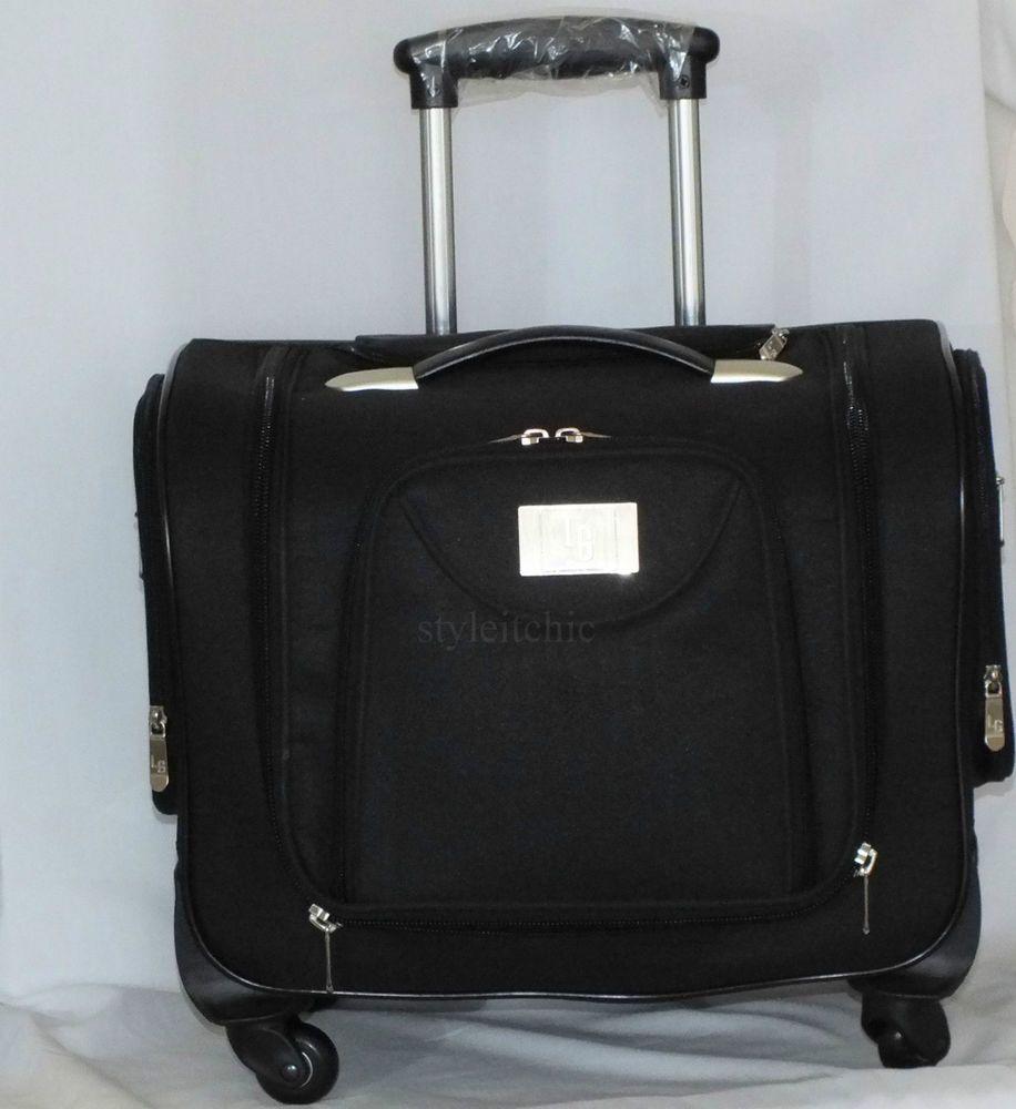 Lori Greiner Weekender Bag With Snap In Toiletry Case Black New