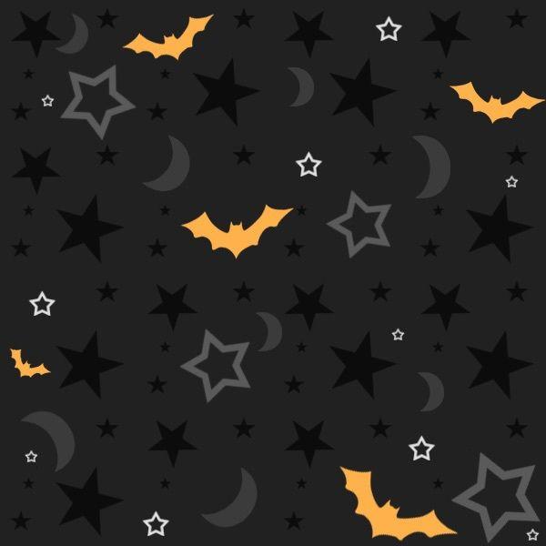 Bats Moon Stars Wallpaper