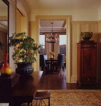 Make The Ceiling Look Taller The Darker Wainscotting Makes The