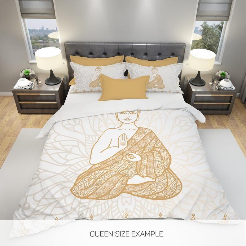 Buddha Bedding Boho Bedding Mandala Bedding Yoga Culture Etsy Queen Bedding Sets Bedding Sets Duvet Bedding Sets
