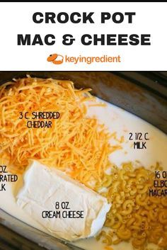 Slow-Cooker Mac & Cheese Recipe #macandcheeserecipe