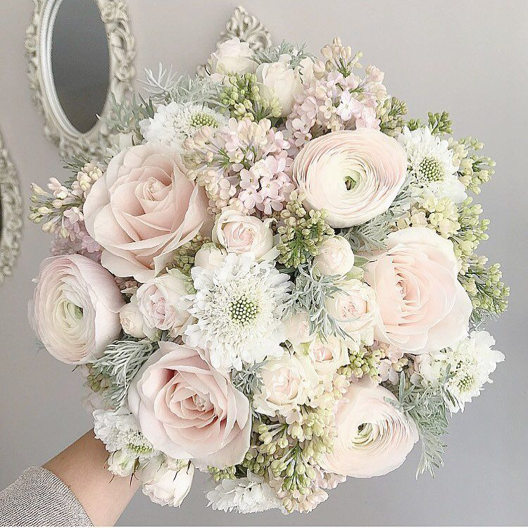 "Lola by Marlena Milan on Instagram: ""Blush and Sage � #flowers #florist #london #blooms #luxuryflorist #weddingflowers #floral #idea #roses #meijerroses #lilac #scented #blush…"""
