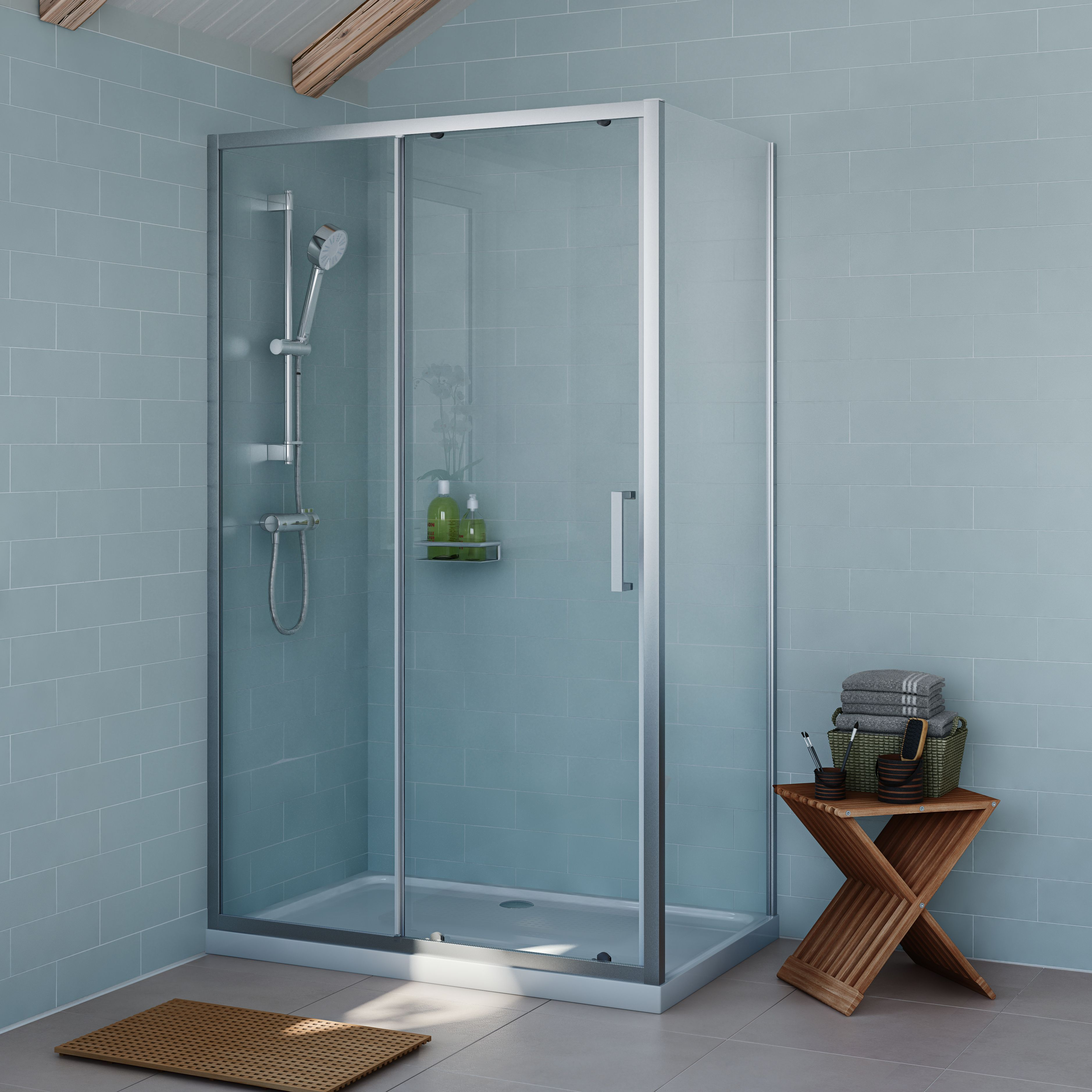 Make mornings more inviting with this rectangular shower enclosure ...