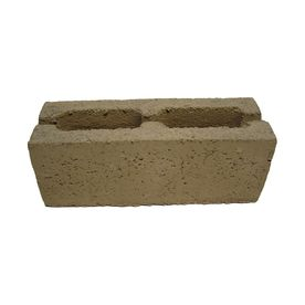 Quikrete Gray Slump Concrete Block Common 6 In X 16 In X 6 In Actual 5 5 In X 15 75 In X 5 5 In Garden