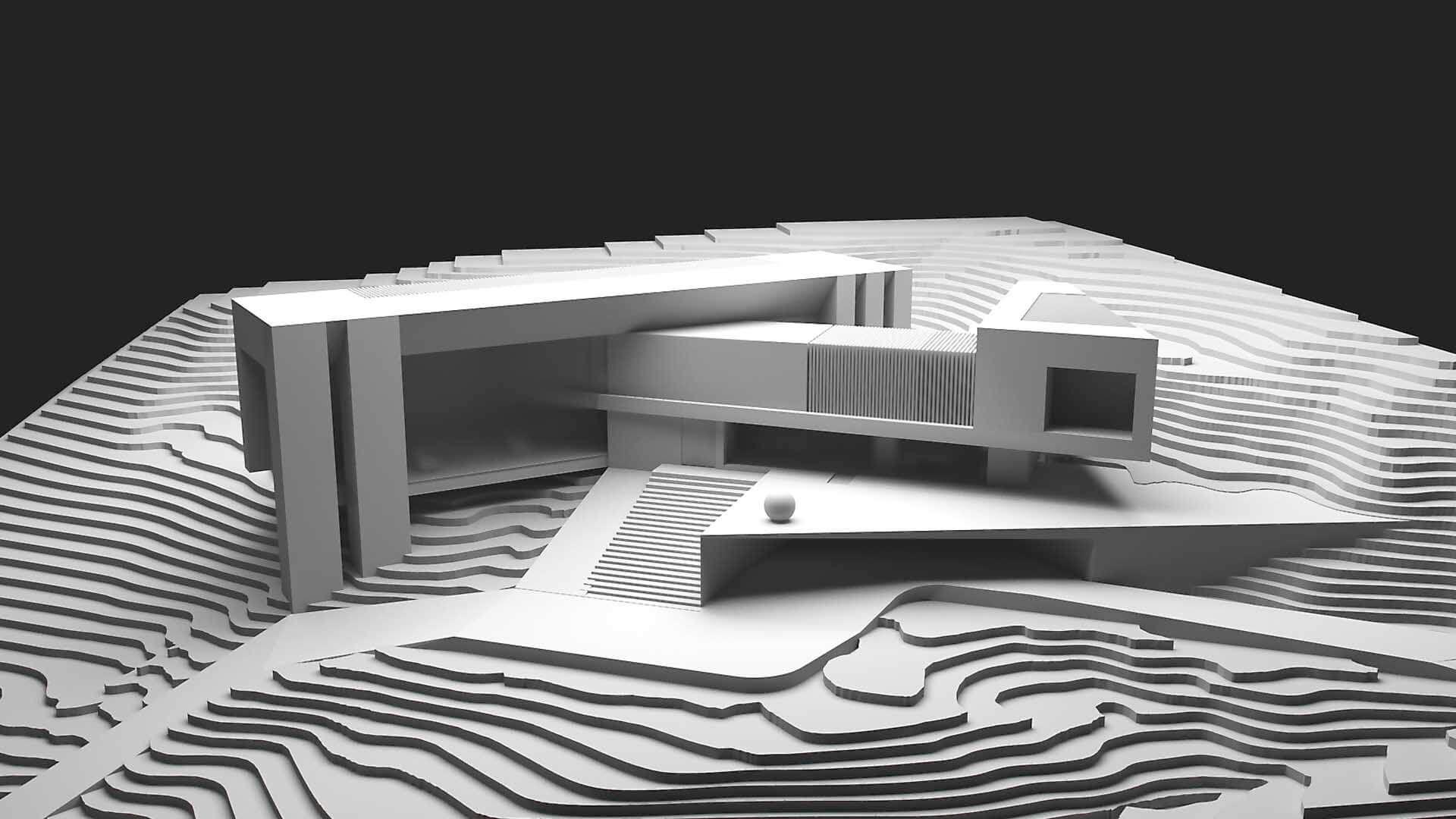 Creato projects aqua house for Casa minimalista maqueta